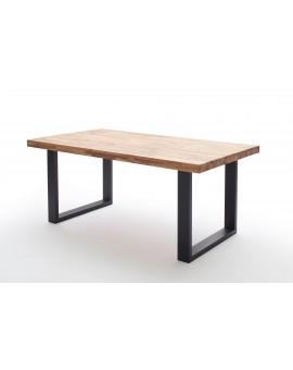 Table Tim Elfo Möbel - chêne huilé / Pieds en X Allu ou Inox 240/100cm