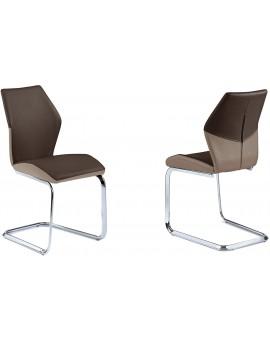 Lote de 6 chaises CAVADORE SNAP en acier chromé et PVC 45x90x61cm