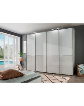 Armoire Wiemann Shangai 300/217/67cm blanc vitré