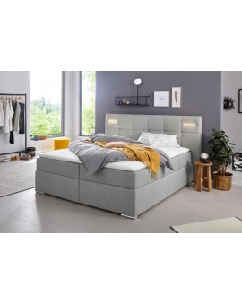 Boxspring COLLECTION AB »Dormante« 180x200cm gris clair Tissus LEDS