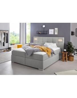 Boxspring COLLECTION AB »Dormante« 180x200cm gris clair Tissus LEDS