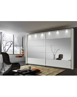 Armoire Hollywood 4 400/236cm portes miroirs