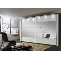 Armoire Hollywood 4 400/236cm portes miroirs