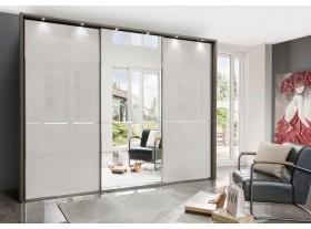 Armoire WIEMANN »Shanghai« façade en verre et miroir 280/216cm