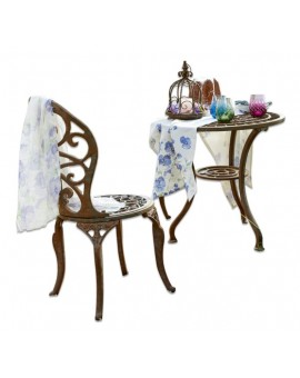 ENSEMBLE TABLE ET CHAISES SHARRON