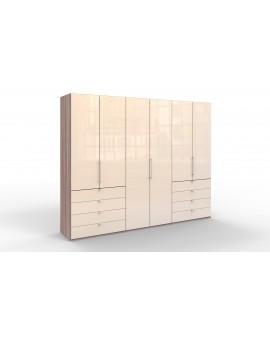 Armoire Wiemann Loft 300/236cm/58cm magnolia