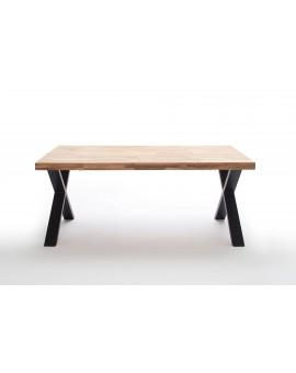 Table Tim Elfo Möbel - chêne huilé / Pieds en X 240/100cm
