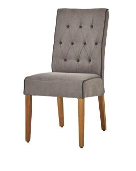 Lot de 6 chaises ST1702 Tissus gris Clair Capit