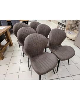 Lot de 6 chaises ST1801 Choco Scandi
