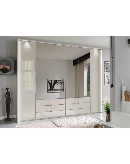 Armoire WIEMANN »Kansas« Champagne miroir et verre 300/217cm