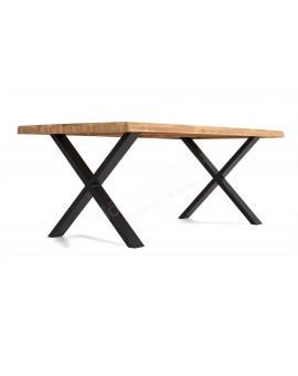 Table Tim Elfo 240cm chêne huilé pieds X