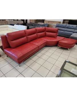 Canapé Cuir Center RED 290cm avec pouf