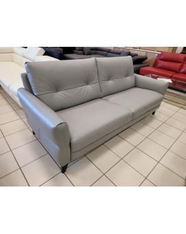 Canapé cuir véritable Gris Cuir Center