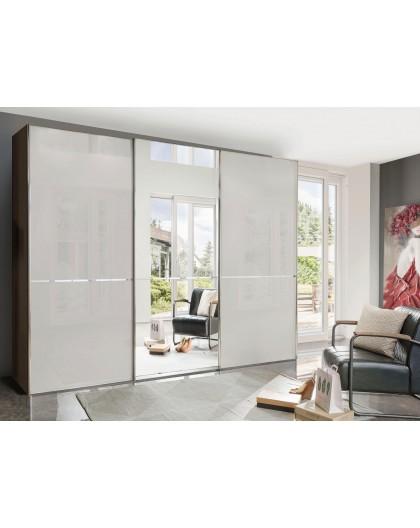 Armoire WIEMANN »Shanghai« façade en verre et miroir 300/216cm