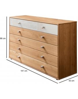 Commode à tiroirs «Kiruna» WIEMANN 141cm
