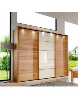 Armoire Kufstein 250/236cm chêne + verre magnolia