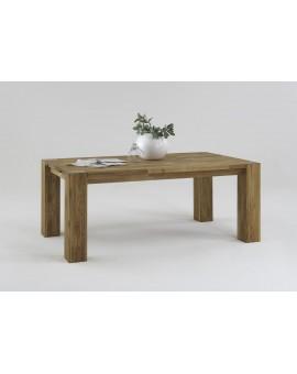 Table chêne massif huilé avec une rallonge de 70cm