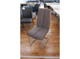 Lot de 6 chaises Kamala tissus + PVC Cappuccino